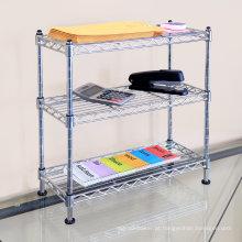 Ajustável DIY multifuncional prateleiras de arame de metal para escritório (cj602060c3c)