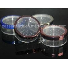 Recipiente plástico do cosmético com Sifter Roating para o pó (PPC-LPJ-010)