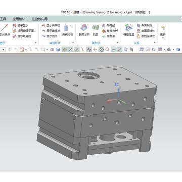 Diseño de molde de metal de fundición a presión de alta precisión