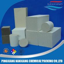 ceramic honeycomb heat exchanger for industrial furnace