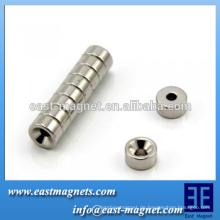 10mm Durchmesser x 5mm dick x 3,2 mm Magnet / Waschbecken Neodym Magnet - 2 kg Pull