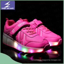 Luz LED de carga luminosa LED zapatos con 11 colores cambiables