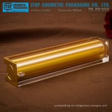 ZB-PK100 100ml excelente calidad grandes y pesados grandes y altos cuadrado sin aire cosméticos botellas de 100ml
