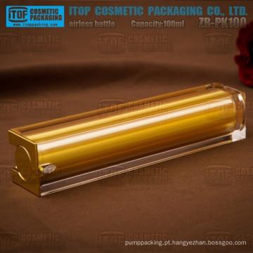 ZB-PK100 100ml grande e pesada excelente qualidade grande e alto quadrado mal ventilado cosmético frascos de 100ml