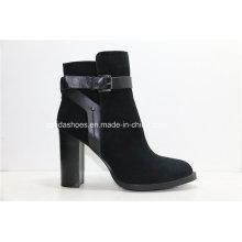 15fw High Heels Frauen Leder Stiefel für Sexy Fashion Lady