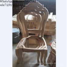 Chaises de salle à manger de cadre en bois de cadre classique de meubles à la maison en bois