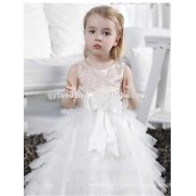 Koreanische Art- und Weisemädchen-Art-Kleider Oganza langes Baby 1-jährige Partei-Blumen-Mädchen-Kleid-Muster-Partei-Abnutzungs-Kleider für Mädchen D7