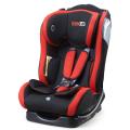 Baby-Autositz mit blauer Rückseite