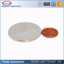 Pequeño imán del disco de la placa redonda fina para el imán del sensor