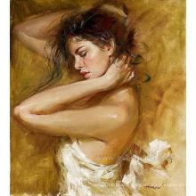Bijouterie de ballet à l'huile sur toile à la main Art de mur de peinture pour salle de séjour (EIF-185)
