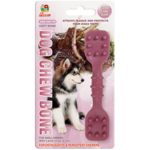 "Percell 4.5 ""Dura Chew Toy Dumbbell Lamb Scent"