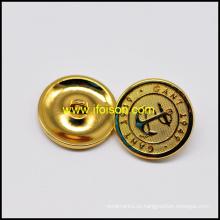 Botón de caña oro brillante con alta calidad