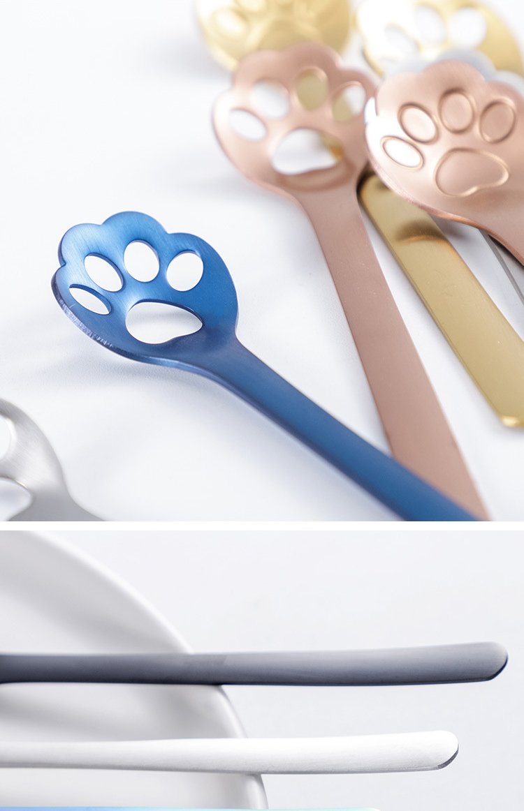 Stainless steel cat paw spoon