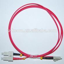 SC / LC Duplex 62.5 / 125um MM Cable de conexión de fibra óptica
