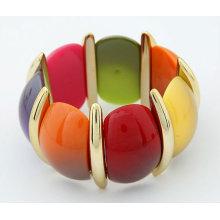 2013Hot Sale Multicolor Graceful Elasticity Bangles Acrylic Bangles And Bracelets BA06