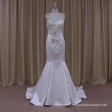 Романтический Танк Продвижение Топ Белого Атласа Свадебное Платье Из Двух Частей