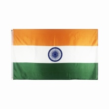 Wholesales Polyester India National Flag Printed Banner 3x5