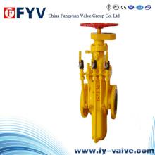 Válvula de compuerta plana de gas API 6D para gas natural de petróleo