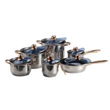 6 Piece Nonstick Cookware Pots and Pans Set