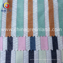 Polyester Cotton Seersucker Yarn Dyed Fabric for Shirt Textile (GLLML150)