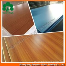 18mm weißes hochwertiges Melamin Kommerzielles Sperrholz