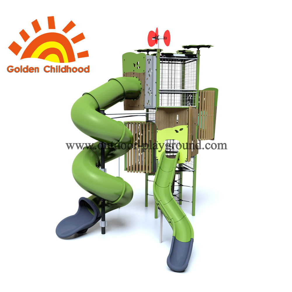 Turbo Tube Tower Outdoor Playground Equipment For Children