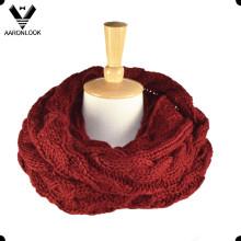 Moda gruesa cable caliente Knitting Snood