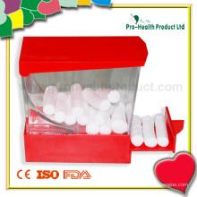 Medizinisch absorbierende zahnärztliche chirurgische Baumwollrolle mit Spender