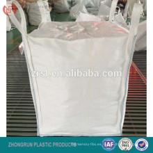 bolsa de fibra con tapa de chimenea, boca de llenado de 1000 kg bolsa grande, 1 tonelada de bolsa de FIBC