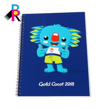 Cuaderno de espiral de moda profesional de logotipo personalizado con diferentes tamaños
