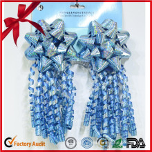 Hot Selling Good Quality Blue Curling Bow for Holiday Decoration