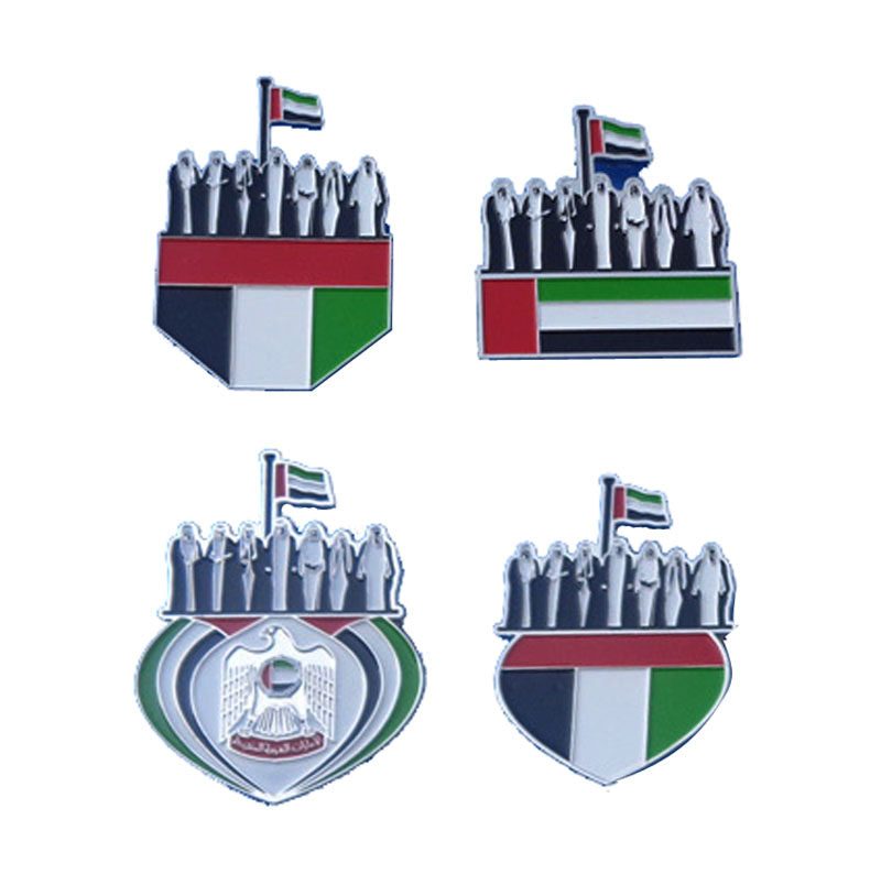 Dubai Metal Gifts Uae Flag Pins