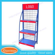 heavy duty lubrication oil merchandise wire mesh display racks shelving