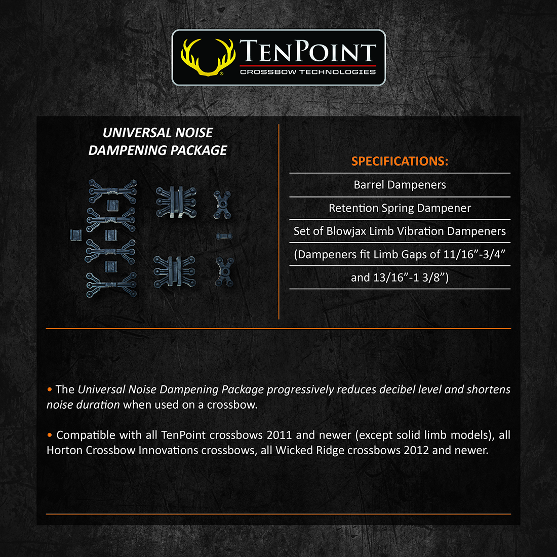 TenPoint_Universal_Noise_Dampening_Package_Product_Description