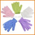 Heißer Verkauf Sortierte Farben Nylon Massage Handschuh, Dusche Bad Peeling Handschuhe