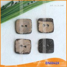 Boutons de noix de coco naturels pour vêtement BN8042