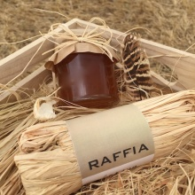 Hot sale bottle decorative paper raffia ribbon