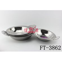 Stainless Steel Double Handle Fry Pan (FT-3862)