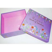 Embalagem de papelão de alta qualidade Presente Cany caixa de papel com estampagem de folha