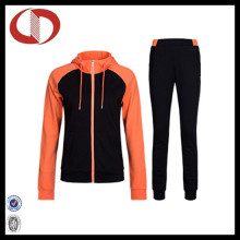 High Quallity Novo Estilo CVC Mulher Jogging Suit Sports Tracksuit
