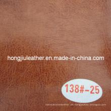 Cuero de aceite ceroso bicolor para muebles (Hongjiu-R64)