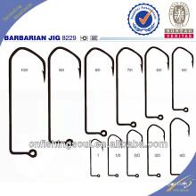 FSH033 8229 High carbon steel fishing hooks barbarian jig fishing hooks