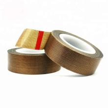 Cinta adhesiva de fibra de vidrio de PTFE para la industria del embalaje de sellado térmico
