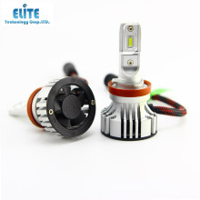 6000 lumen 6500k 12v fan type led lamps for car f2 h11 h11b led headlight
