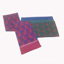Double Side Tube Polyester bedruckt Custom Design Schal mit Fransen