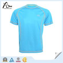 Abgerundetes Hem kundenspezifisches Raglan-T-Shirt Männer-T-Shirt