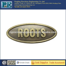 High precision custom metal logo plate