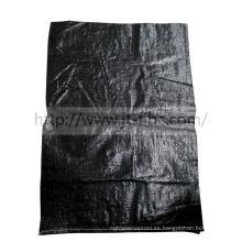25kg bolsas negras anti - UV tejidas