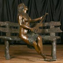 Garten-Dekoration im Freien Metall-Handwerk Mädchen nackt Gartenstatuen