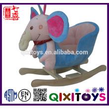 Silla oscilante de alta calidad modificada para requisitos particulares del elefante de la felpa